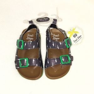 🆕 Toddler's Shark Sandals Size 5 First Steps